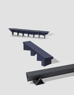 Solid Textile Board Benches – Minimalissimo #minimalism #furniture #bench