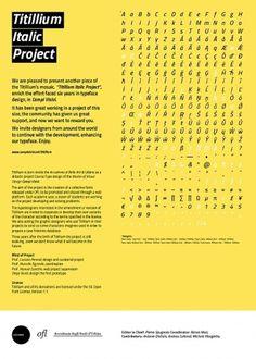 titillium italic project | calzinispaiati #manifesto #italic #titillium #urbino #source #type #open