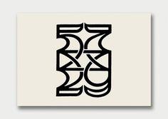 Logo Collection – Number Theory, 1960s/70s / Aqua-Velvet #typography #logos