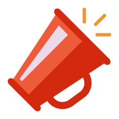 See more icon inspiration related to shout, protest, megaphone, announcement, loudspeaker, announcer and miscellaneous on Flaticon.