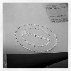 Instagram #stamp #stationery #invoice #embossed #typotheque