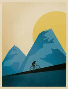 S & S Shop by Script and Seal — Mountain Trails ($20-50) - Svpply #uphill #print #mountain #bicycle