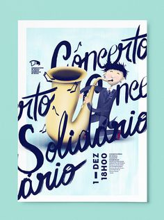 Concert at Calouste Gulbenkian Music Conservatory on Behance #braga #saxophone #agã¡ #classic #design #child #illustration #gulbenkian #calouste #studio #poster #music #porto #concert