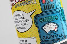 Maquinon, wine label by Estudio Maba #label #wine #bottle #comic #retro #color #robot