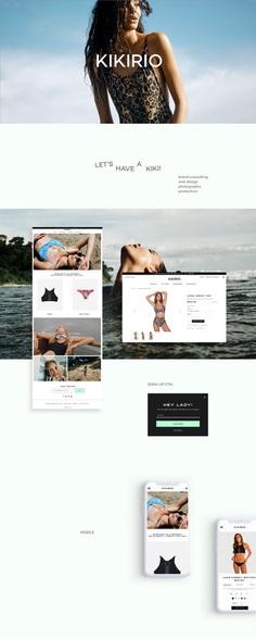 Kikirio - Swim - Web Design #roscoflevo #jensanchez #bradfuture #wethemus #art #design #agency #webdesign #branding