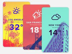 Duotone Weather App UI Design