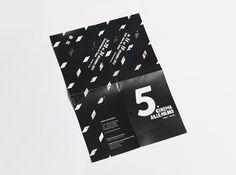 A'ZERO STUDIO / 5XCINEMA #design #layout #brochure #morocco