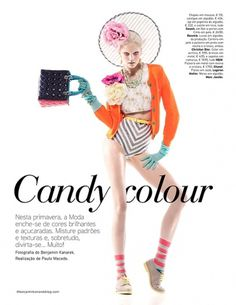 Dani Seitz for VOGUE Portugal & Video on Fashion Served #model #candy #direction #photography #art #colour