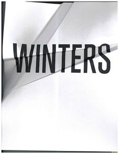 Winters #typography