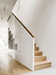 Stairway. Detached House by CAMA A. Photo by Hiepler, Brunier. #stairway #camaa #minimal