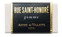 rue saint-honoré : Beauty : Lucky Magazine #packaging #classic #black #soap #french #gold