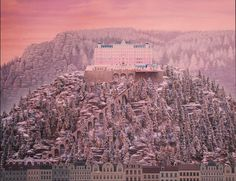 Still-frame from the film #hotel #movie #film #pink #cinema #landscape