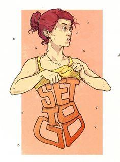 tumblr_lztbdxhBND1qjco10o1_1280.jpg (789×1063) #girl #tosheff #illustration #stefan #typography