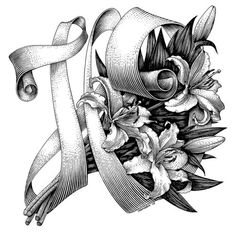 """Typeverything.com The Letter """"Ю""""by Andrey Kokorin. #flowers"""