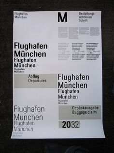 All sizes | Traffic – Flughafen München Typeface | Flickr - Photo Sharing! #grid #system