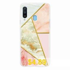 TPU #Geometric #Marble #Painted #Phone #Case #for #Samsung #Galaxy #A20S #- #MULTI-H