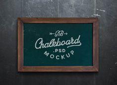 Chalkboard MockUp PSD