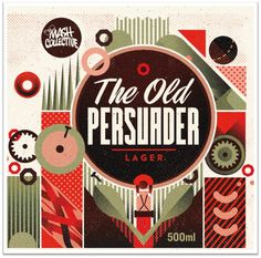 The Old Persuader.png (953×943) #beer #illustration #typography