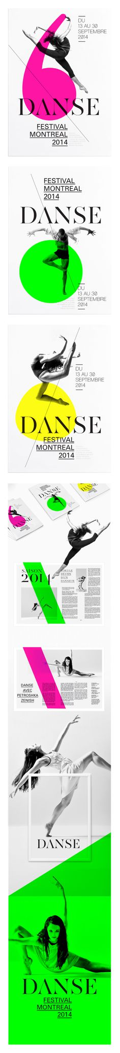 FESTIVAL DE DANSE DE MONTREAL on Behance #dance