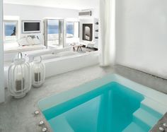 CJWHO ™ (Grace Santorini Escape To Unmatched Serenity) #santorini #design #interiors #pool #architecture #hotel #greece #luxury