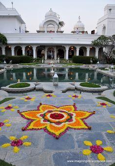 Flower Rangoli Designs For Pongal