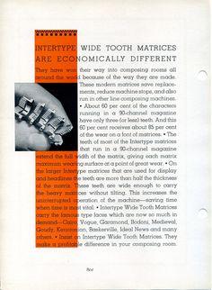 Vintage intertype advertising