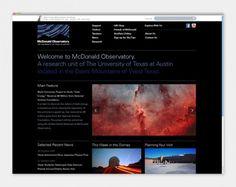 McDonald Observatory - Oscar Morris #morris #oscar #mcdonald #website #observatory #identity
