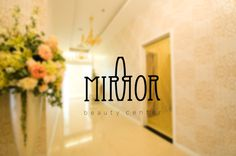 Mirror on Behance #centre #design #graphic #mirror #minimal #reflection #logo #beauty