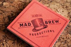 Mad Brew : Lovely Stationery . Curating the very best of stationery design #stationary #hill #productions #brew #adam #mad