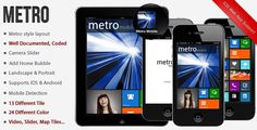 3 Mobile HTML Templates with Metro Style Design