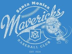 Dribbble - Santa Monica Mavericks by Alex Rinker #illustration #typography #logo #tshirt #baseball #monogram