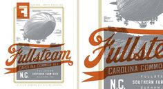 Brand Identity | Fullsteam Brewery | Helms Workshop #print #typography #branding