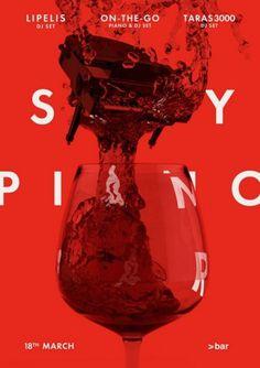 Merdanchik.com #typography #poster #red #liquid #piano