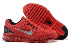 Nike Air Max 2013 Red Black Mens Shoes
