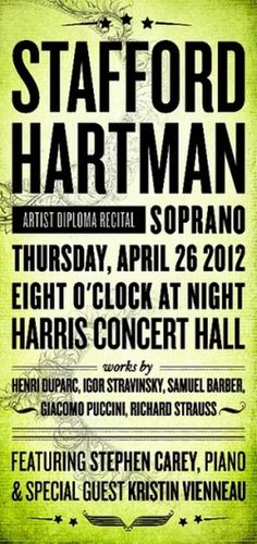 Stafford Hartman Soprano Poster | Flickr - Photo Sharing! #print #design #illustration #opera #poster #layout #typography