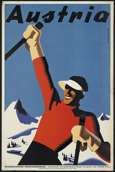 Hooah! Austria! #poster #winter #travel #austria #ski