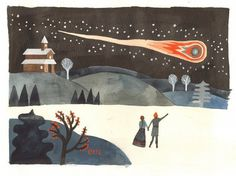 Colin Meloy and Carson Ellis display art #inspiration #illustration #art