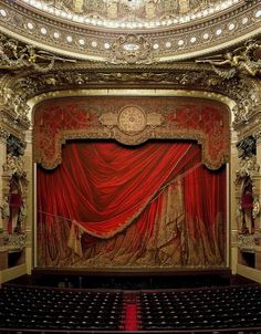 Garnier Opera, Paris, by David Laventi | Flickr - Photo Sharing! #red #theatre