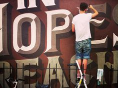 Typeverything.com In Hopes of Reaching by Ged Palmer & No Entry Design #hopes