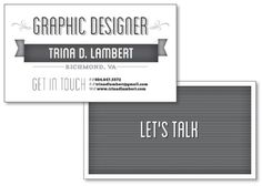 Personal Business Card #branding #print #design #identity #type #typography