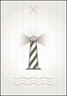 Lighthouse #sailor #design #lighthouse #sea #poster
