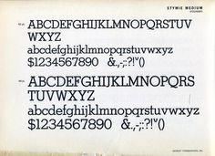 Stymie Medium was designed by M. F. Benton in 1931. #typography