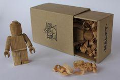 Art Toys ²° on Behance #art #wood #lego #toys