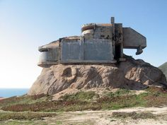 Hanging bunker at Devil's slide #concrete #bunker