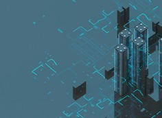 Rascacielos de la ciudad futurista en Behance