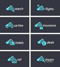 Scanning for Shapes in Clouds - Brand New #search #logo