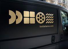 Los Italianos #branding #van #pasta #food #italian