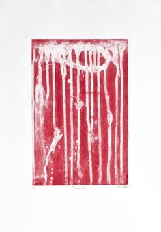 Insecurity #drips #red #printmaking #intaglio #adno #soapground #mike #insecurity