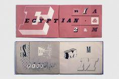 Southbank Typosurvey—Egyptian   Flickr - Photo Sharing! #spread #typography