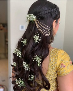 trendy Curly Hairstyle For Brides 2020